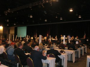 Pork Act delegates in session