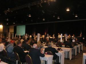 Pork Act delegates in session