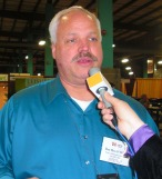 Detective Brett Wilson, TRACE, at 2013 Western Farm Show
