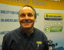 Nigel Mackenzie, New Holland marketing manager for North American combines, at AG CONNECT 2013_EDIT