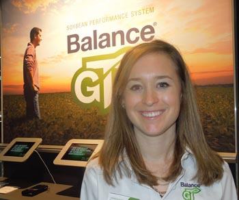 MS Technologies' Lauren August at Commodity Classic, Kissimmee, Fla., Feb. 28, 2013.
