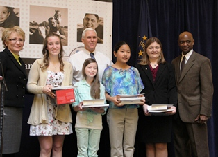 Winners of the 2013 Ag Essay Contest at the Statehouse.