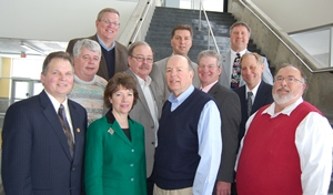 World Dairy Expo's 2013 Executive Committee:  Front Row (L to R): Mike Holschbach, President; Debbie Crave, 1st Vice President; Steve Larson, 2nd Vice President and Al Deming, Secretary/Treasurer and Finance Committee Chair. Middle Row (L to R): Jim Crowley, Jr., Dairy Cattle Show Superintendent; Tom Morris, Dairy Cattle Exhibitor Committee Chair; Bob Kaiser, Interim General Manager and Dean Hermsdorf, Commercial Exhibitor Committee Chair. Back Row (L to R): Jeff Lyons, WI DATCP; Bill Hageman, Jr., At-Large Director and Bill Barlass, Purebred Breeders of World Dairy Expo.
