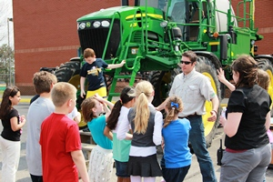 Students at Pine Tree learn about the new technologies farmers use.