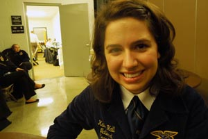 National FFA Secretary Kalie Hall of Georgia, at the Missouri FFA Convention, Apr. 18, 2013.