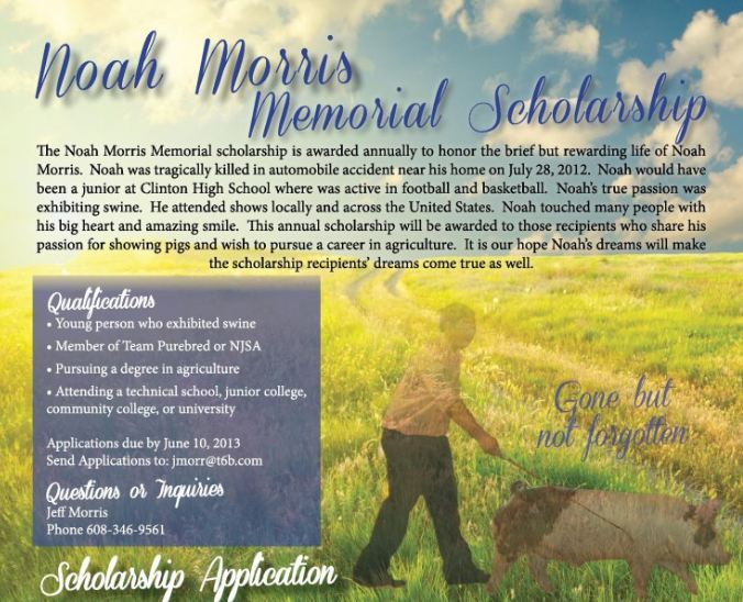 2013 Noah Morris scholarship