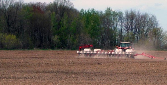 Planting in central Wisconsin
