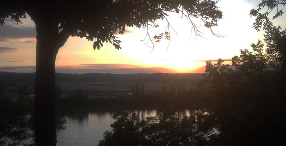 Sunrise over the Missouri River