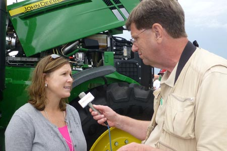 Angela Armagost with Plains Equipment at Husker Harvest Days