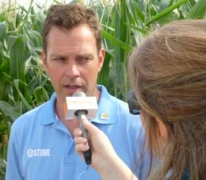 Myron Stine, Stine Seeds, interviewed by Brownfield's Julie Harker, 2013 Farm Progress Show