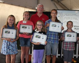 Don Stenberg with scholarship contest winners