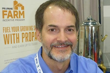 Mark Leitman with the Propane Education and Research Council at Commodity Classic, San Antonio, Feb. 27, 2014.
