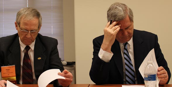 National Farmers Union President Roger Johnson and Ag Secretary Tom Vilsack during a USDA Conference Call.
