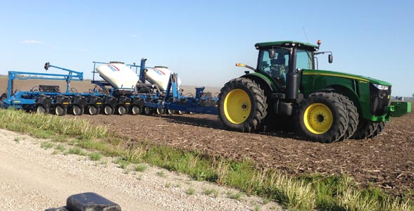 Planting is underway for Carrolton, Mo., farmer Adam Casner, who shared this photo with Brownfield Ag News.