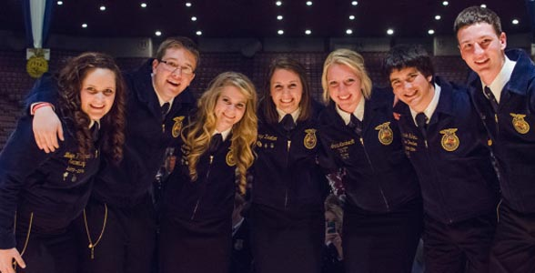 The 2014-15 Nebraska FFA officer team. Click photo for story. (Photo courtesy of the Nebraska FFA Association)