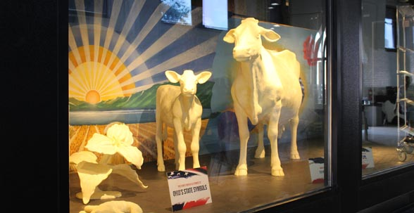 2014 Ohio State Fair Butter Cow and Calf unveiled  Meet Scarlet and Grayce