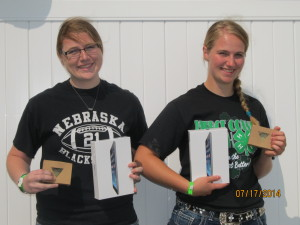 Kim Carlson and Bailey Tinker were awarded the Pierce County Ag Youth Award