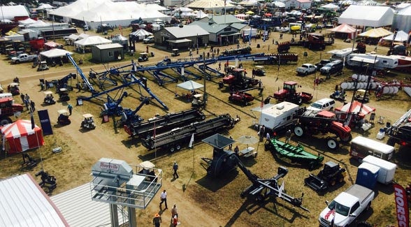 Dakotafest, Mitchell, S.D., from the vantage point of the Brock Grain Systems elevator tower, Aug. 19, 2014