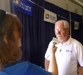 Dave Warrington, Alliant Energy, 2014 Farm Progress Show