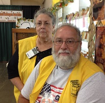 Fuzzy and Sally Pipkins at the Missouri State Beekeepers Booth at 2014 Missouri State Fair
