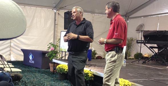 Iowa Ag Secretary Bill Northey and ADM's Chris Riley talk sustainability at 2014 Farm Progress Show.