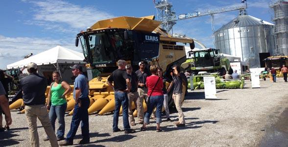 CLAAS exhibit at 2014 Farm Progress Show