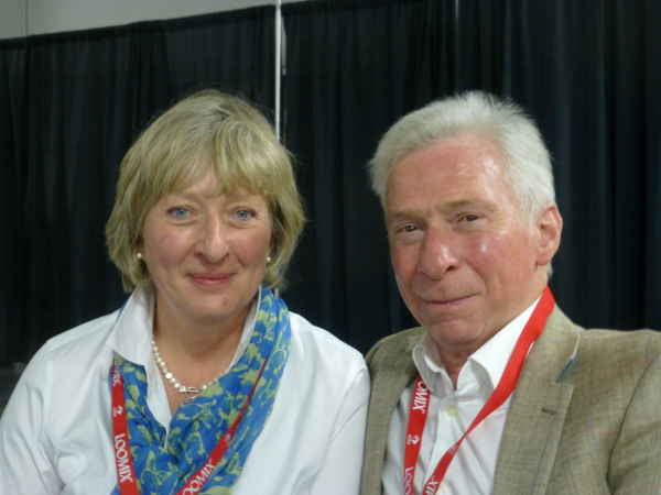 Julia and Geordie Soutar, Angus breeders from County Angus, Scotland, at the Angus Means Business Convention in Kansas City, Nov. 5, 2014.