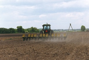 Planting corn in Wisconsin