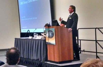 CME president Terry Duffy, addressing cattlemen in San Diego