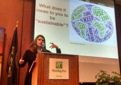 Nicole Johnson-Hoffman spoke at the recent Governor's Ag Conference in Kearney, Nebraska.